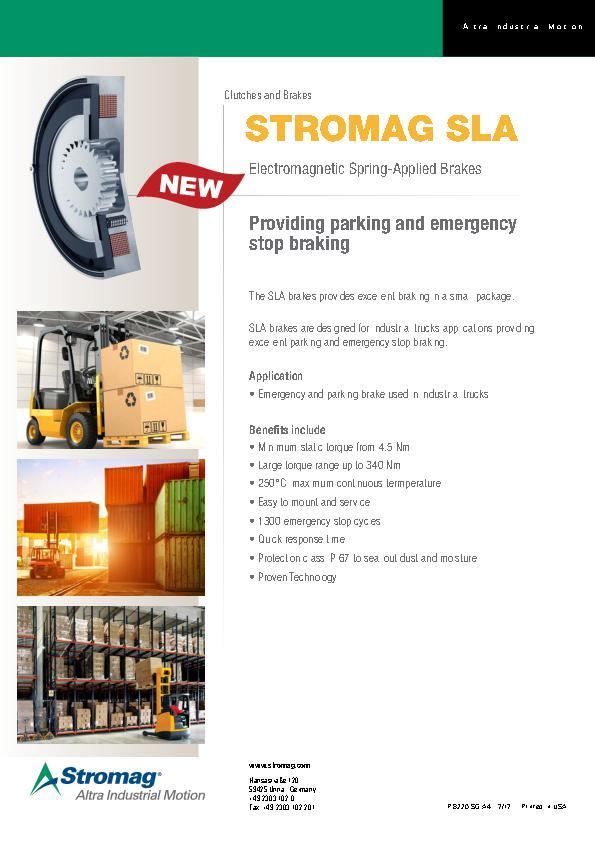 (A4) STROMAG SLA Electromagnetic Spring-Applied Brake