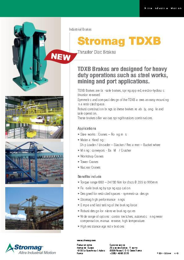 (A4) Stromag TDXB Thruster Disc Brakes