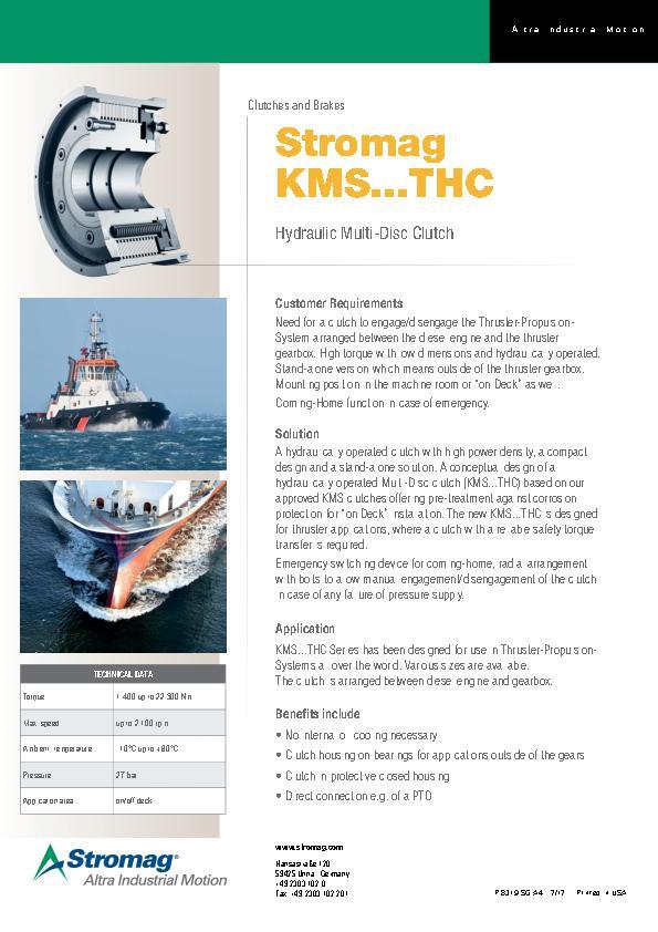 (A4) Stromag KMS...THC Hydraulic Multi-Disc Clutch
