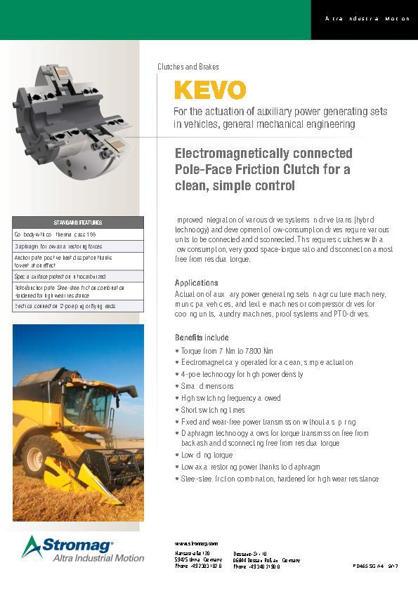 (A4) KEVO Clutches and Brakes